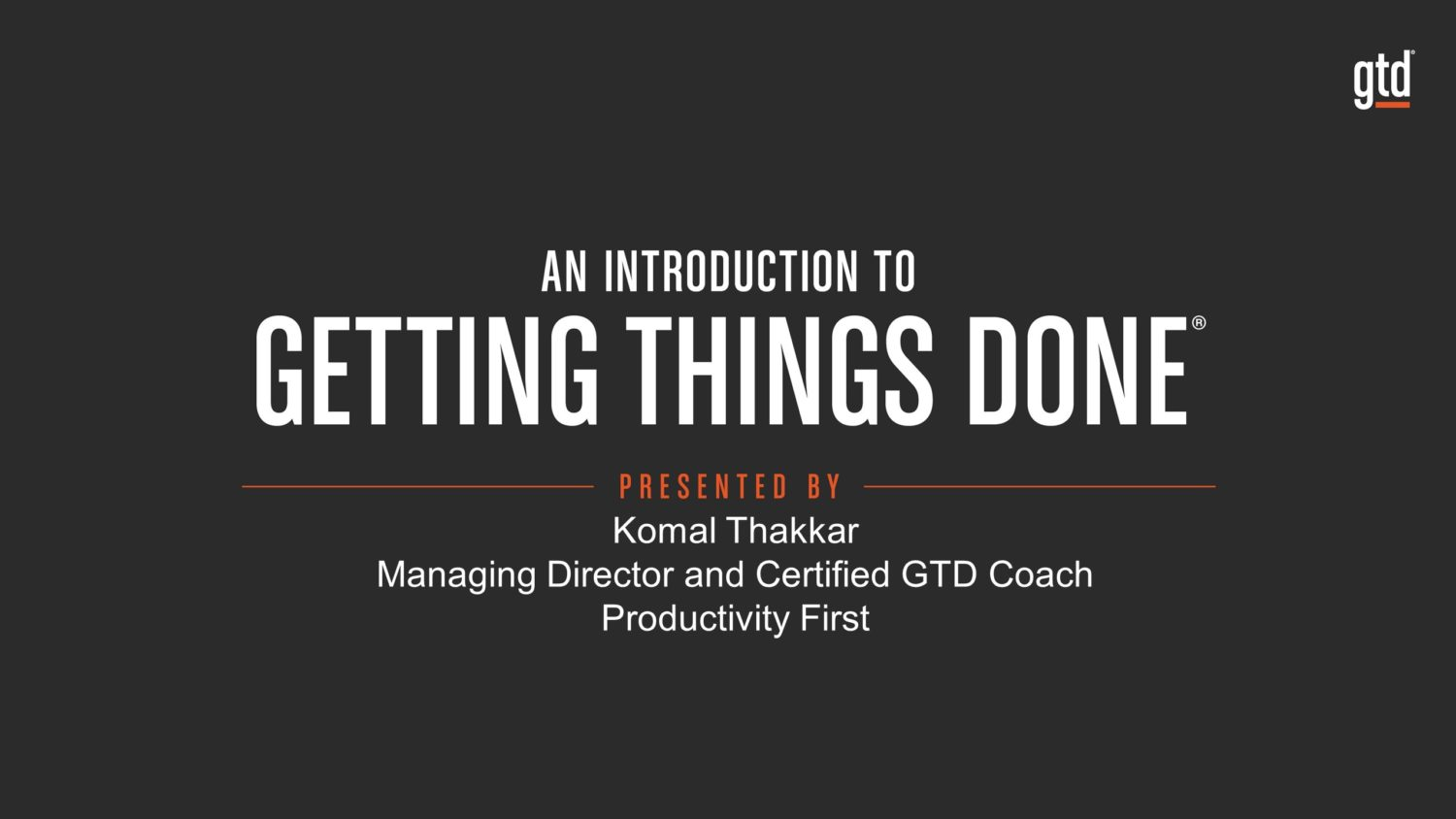 Getting Started with Getting Things Done